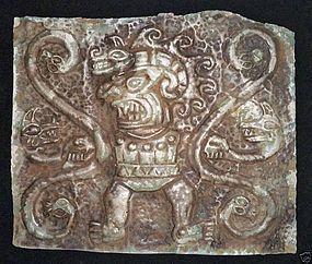 Chavin Silver Breastplate War God Diety 900BC w/vid