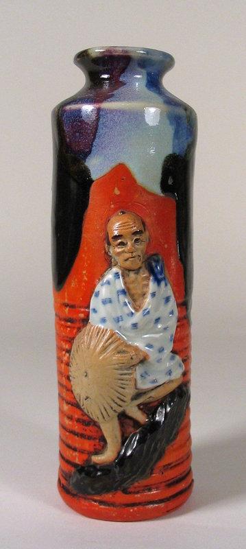 Tall Japanese Sumida Gawa Vase