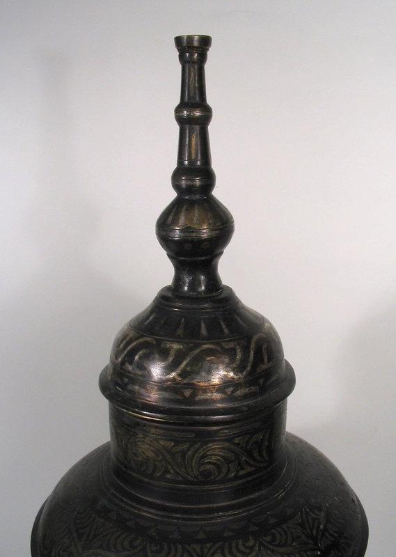 Large Filipino Maranao Bronze Vessel with Inlays, 19th