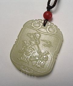 Fine Chinese Jade Pendant / Toggle