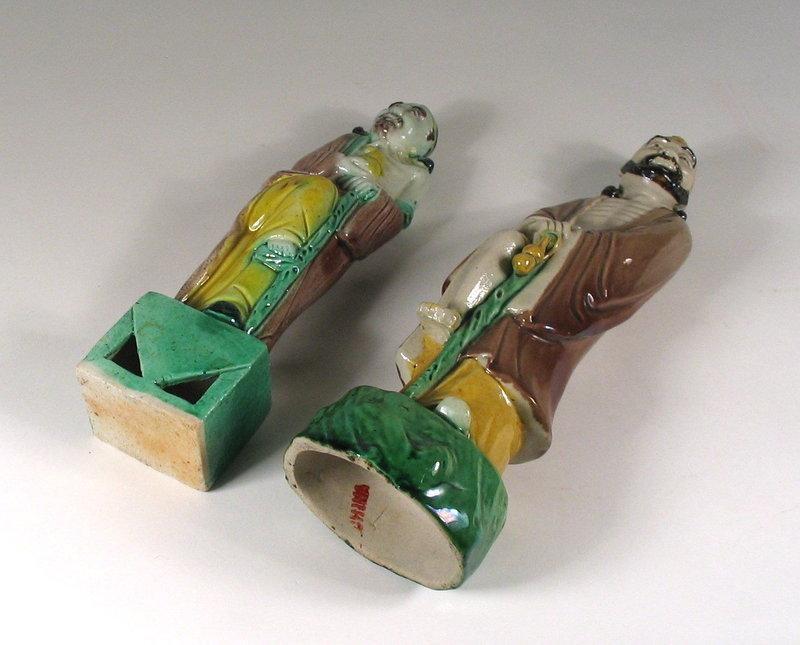 Chinese Porcelain Figures of Immortal Li T'ieh-kuai