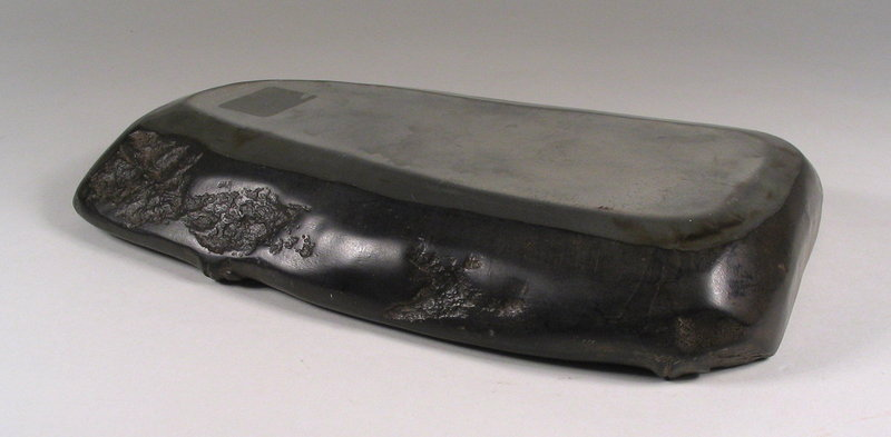 Chinese Duan Ink Stone, Bamboo Form, Qing Dynasty