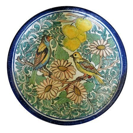 Large Hand Painted Mexican Pottery Platter