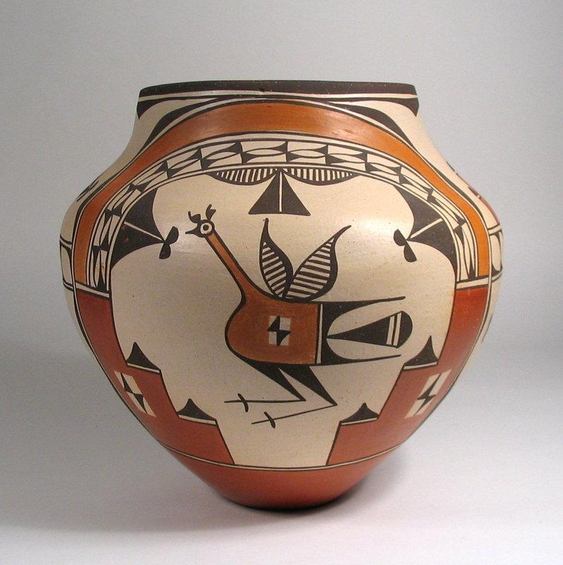 Large Zia Pottery Olla, Elizabeth Medina