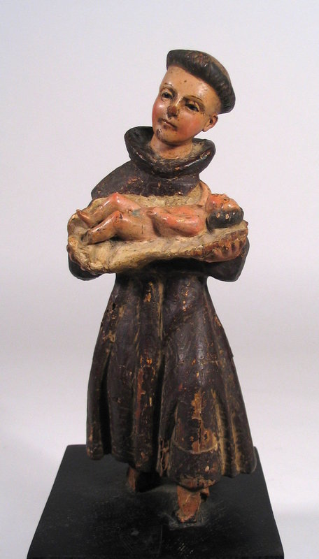 18th C. Spanish Colonial Santo, St. Anthony with Christ Child