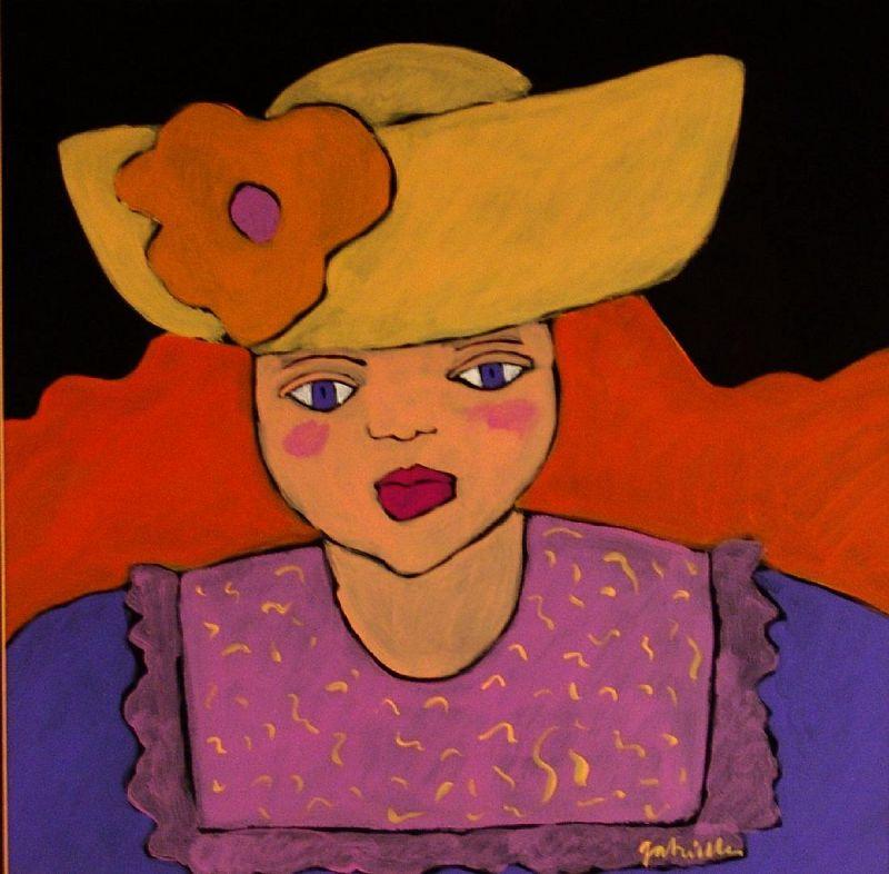 �The English Girl,� Painting by Gabrielle Denton, Original Gouache