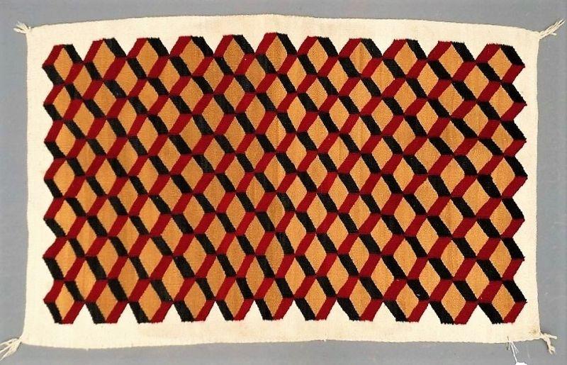 Vintage Geometric Navajo Rug