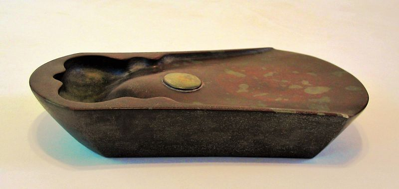 Chinese Scholar�s Ink Stone in Bell Form, Qing Dy