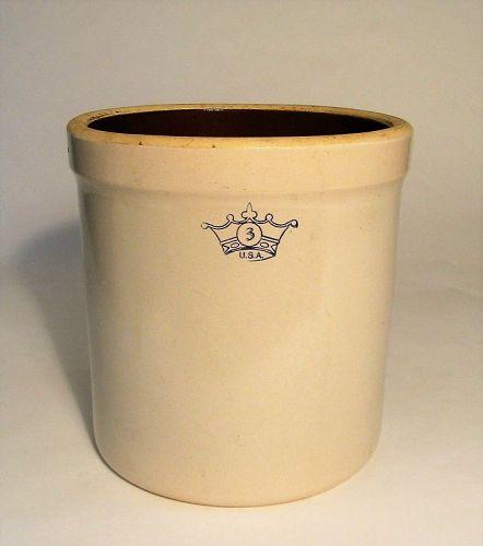 Large, Vintage Roseville Stoneware Crock