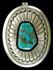Navajo Sterling & Turquoise Pendant by Ernest Bilagody
