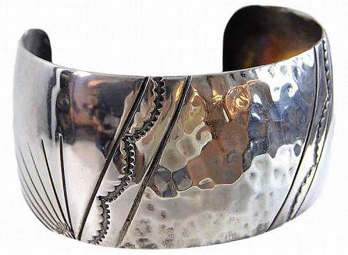 Navajo Silver Cuff Bracelet, Roger Francisco