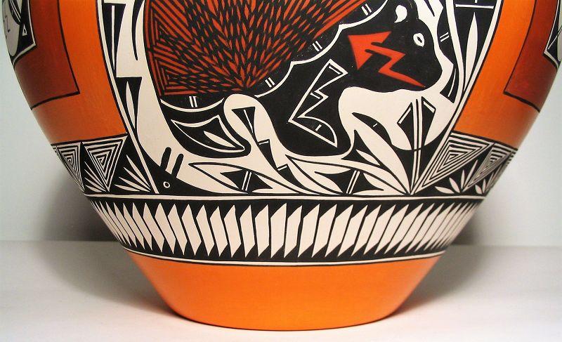Large Acoma Pottery Jar, Signed R.T.P.
