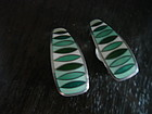 David Andersen Sterling Enamel Norway Earrings