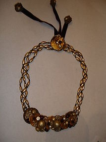 Miriam Haskell Baroque Pearl Poured Glass Necklace