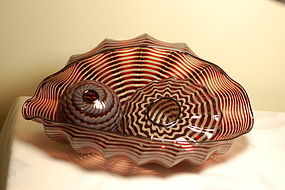 Dale Chihuly Seaform 'Persian' set (3 piece)