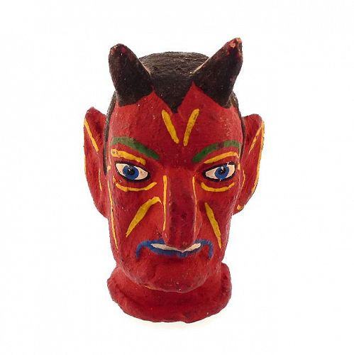 Antique Halloween Devil Puppet Head