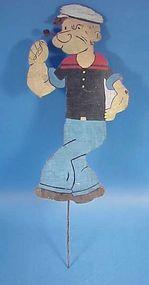 Handpainted Wooden Popeye Garden Ornament