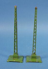 Pair Pre-War Lionel Train Warning Signals