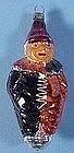 Vintage German Glass Clown Christmas Ornament