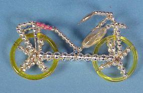 Vintage Glass Bicycle Christmas Ornament