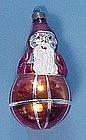 Old Glass Santa on Ball Christmas Ornament