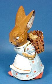 Composition Easter Rabbit Candy Container