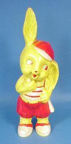 Vintage Hard Plastic Easter Bunny Bank