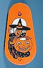 Tin Litho Halloween Witch Ratchet Noisemaker