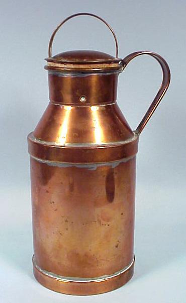 Deco Copper Milk Can Figural Cocktail Shaker