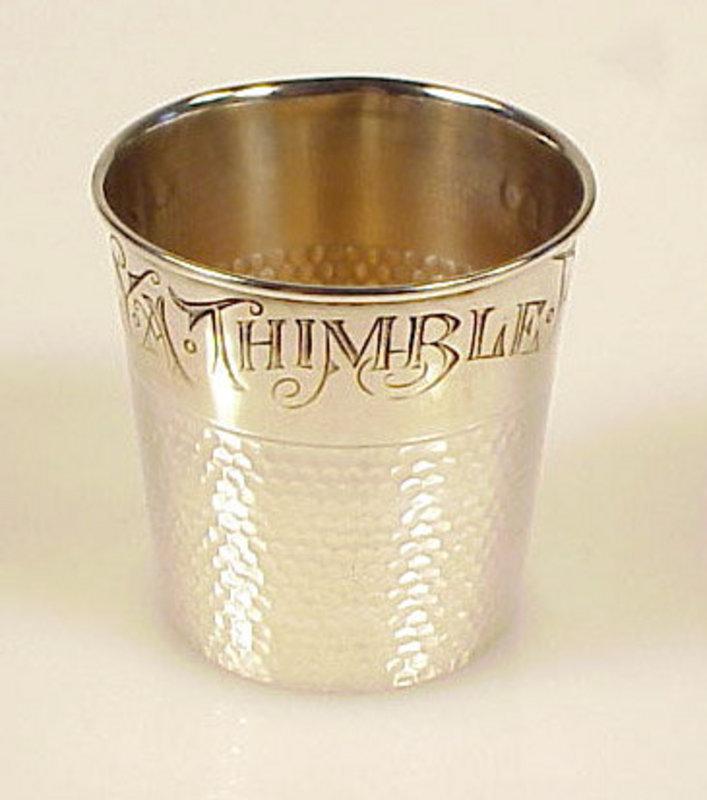 Vintage Sterling Silver Thimble Shot Glass Jigger