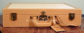 Hermes Attache Briefcase with Panama Weave Insets