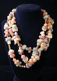 Miriam Haskell Faux Stone Necklace