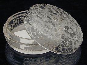 """R. Lalique """"Emiliane"""" Powder  Box  (powder jar)"""