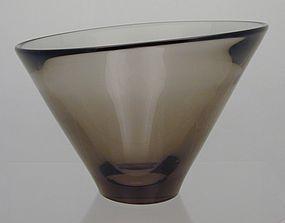 "Holmgaard Per Lutken Asymmetric Vase ""Thule"" 1961"