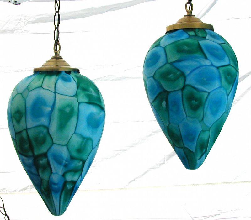Fratelli Toso Murano MCM Hanging Pendant Lights
