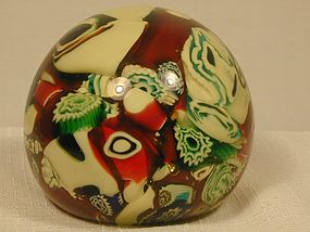 Vaseline Cased Scrambled Glass Paperweight