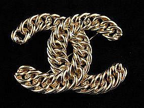 Chanel Large CC Logo Brooch - Make a Statement!