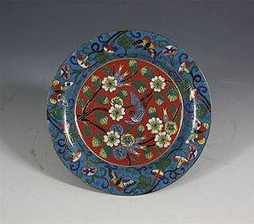 Chinese Cloisonne Dish 19thC