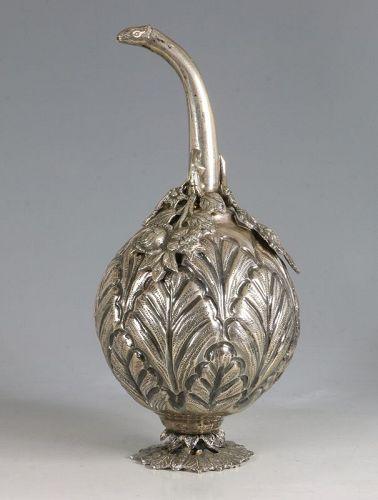 Turkish Ottoman Market Silver Rosewater Sprinkler 19thC