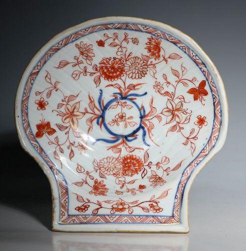 A Chinese Imari Shell Shaped Dish Kangxi C1720
