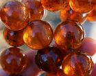 121 Grams! Antique Natural Baltic Cognac Amber Bead Necklace