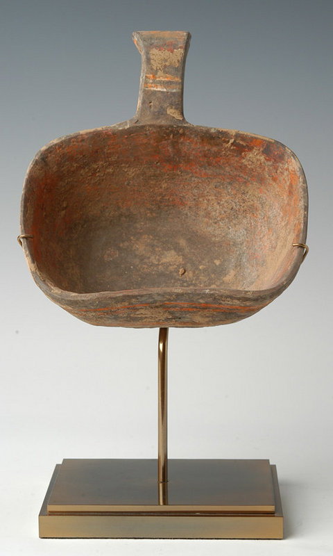 Han, Chinese Pottery Ladle with Handle
