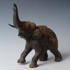 19th Century, Mandalay, Burmese Wooden Walking Elephant