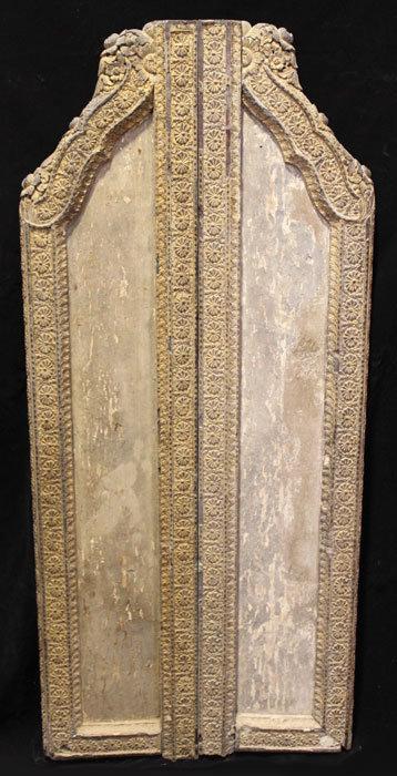 19th Century, Thai Wooden Doors with Flower Design