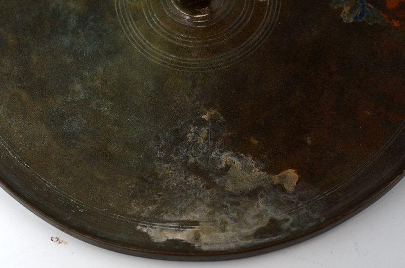 Angkor Vat, Rare Khmer Bronze Mirror with Handle
