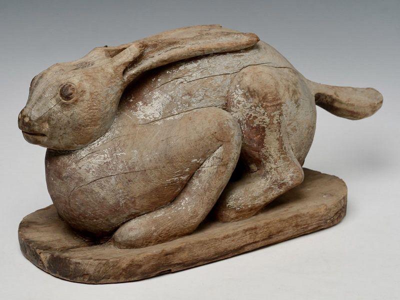 19th century, Burmese Wooden Rabbit
