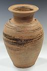 Thai Stoneware Light-Brown Glazed Jar