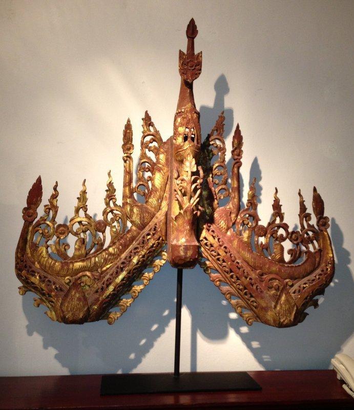 19th Century, Burmese Wood Carving
