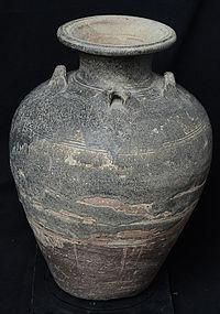 16th C., Sukhothai, Large Thai Stoneware Water Jar