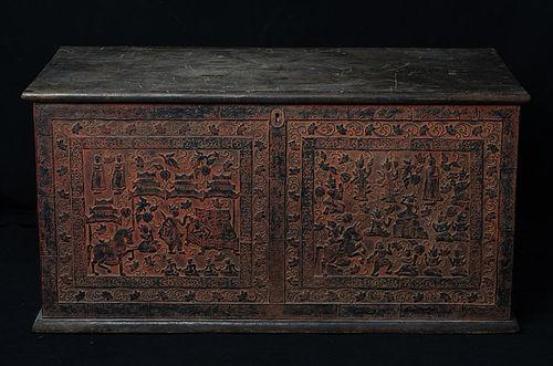 19th Century, Mandalay, Burmese Wooden Chest